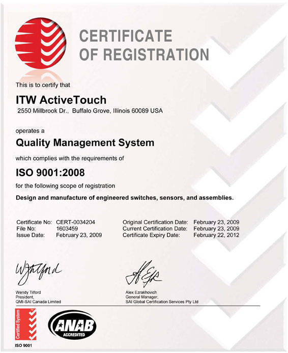 ISO 9001:2008, ISO 14001:2004, OHSAS 18001:2007,ISO 22000