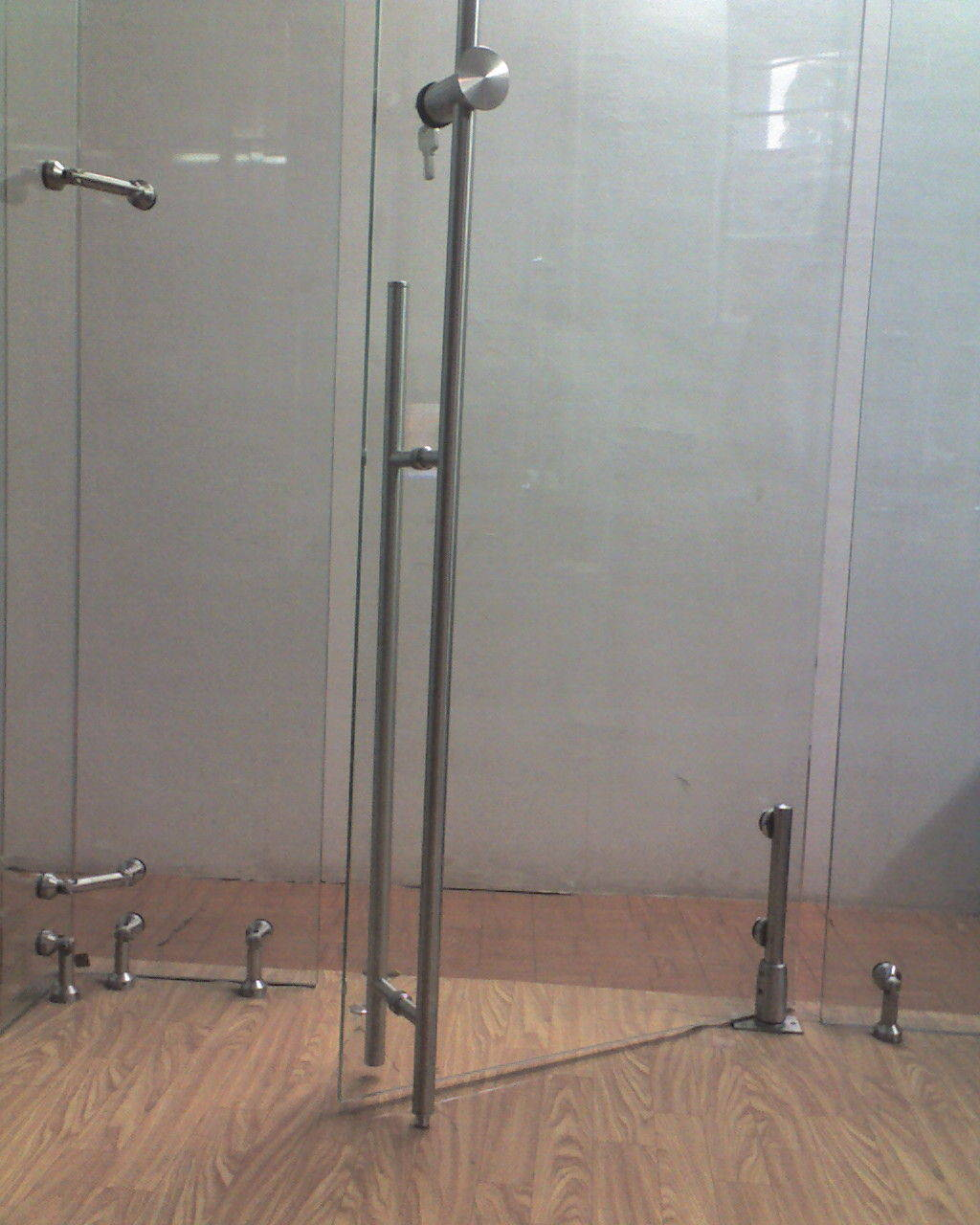 Single Glass Fitting and Glass Door Lock and Glass Canopy