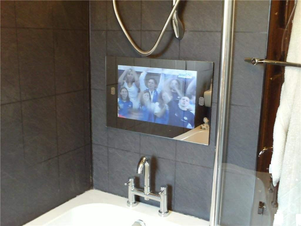 "19"" waterproof tv with mirror tv with waterproof remote ..."