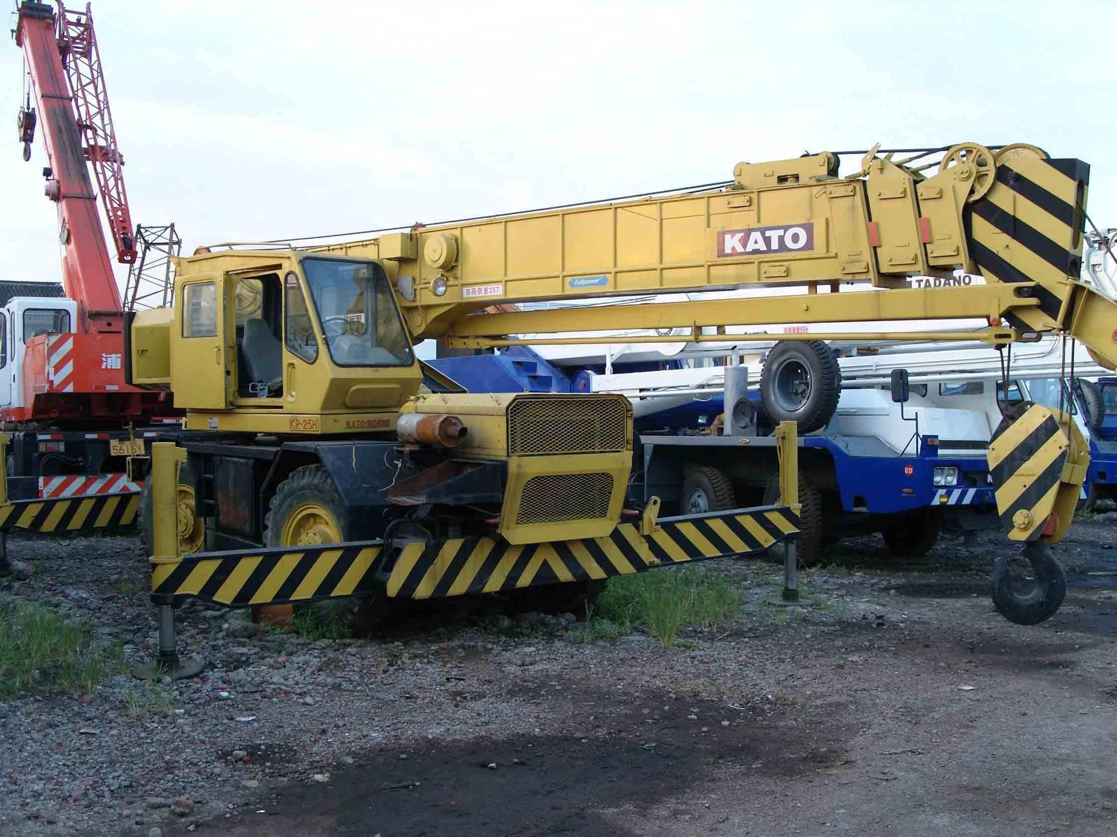 Used KATO KR-250 Rough Terrain Truck Crane, Buy from SHCF