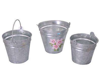 Large galvanized oval bucket, galvanized bucket, galvanized steel