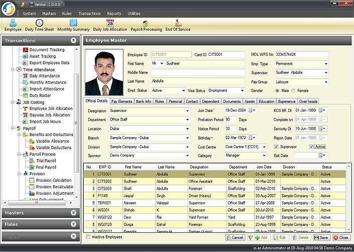 Sapience HR and Payroll Software for Dubai, Abu Dhabi