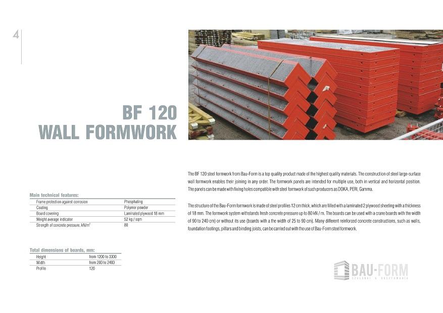 Galvanized steel props, formwork panels, wooden beams