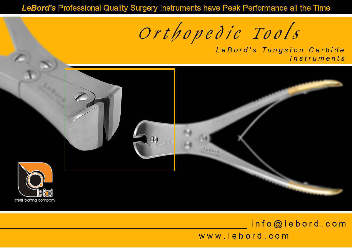 Surgical Orthopedic Instruments, Buy from Lebord (Surgical