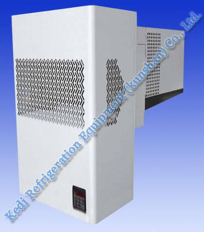 Monoblock condensing unit, cold room equipment, refrigeration