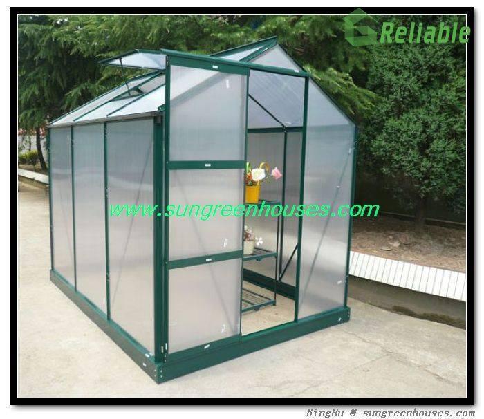 DIY Hobby Garden Greenhouses in Aluminum Frame and