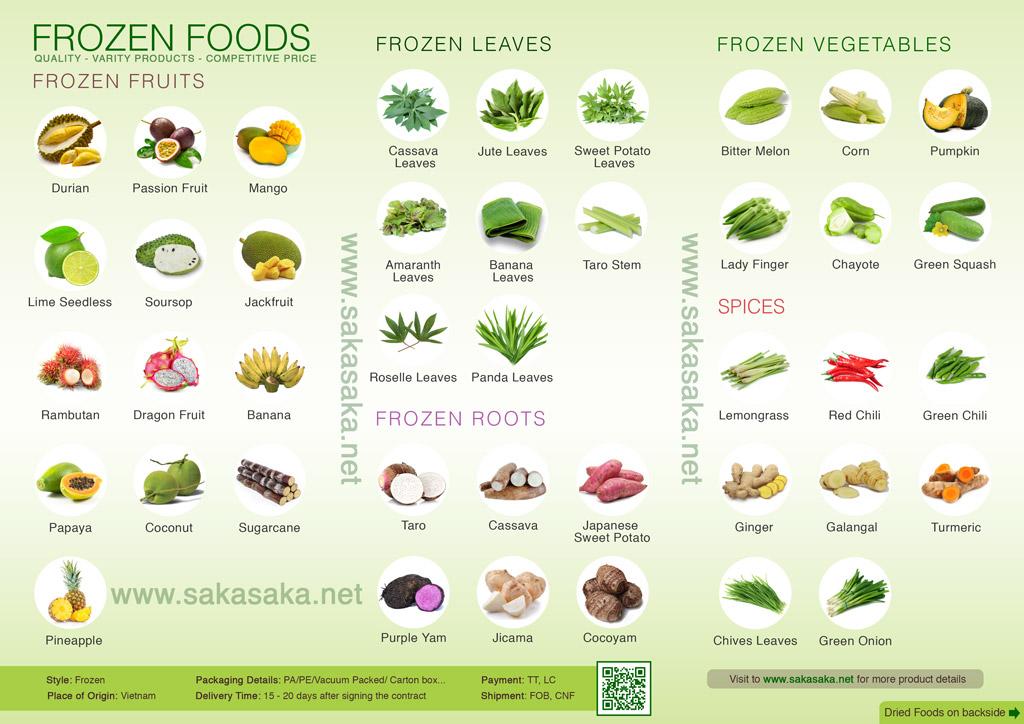 Saka Saka - Frozen Fruits, Frozen Vegetables and Dried Foods, Buy