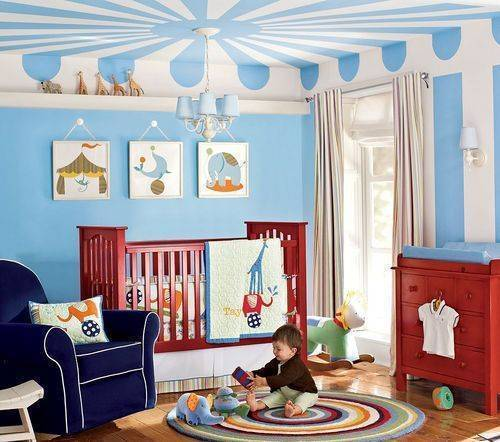 Pottery Barn Kids Circus Crib Quilt Set With Rug With