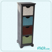 Handmade Tall Antique Wood/Metal Cabinet, Wood Craft