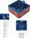 Square 80*80 90*90 shower tray, hot tubs, outdoor spas, shower panels