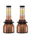 4 Sides 2pcs H8 9006 H1 H7 H4 9005 Led Headlight Conversion Kit COB Bu