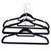 Velvet men hanger with tie bar