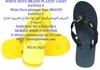White dove slipper sandals