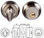 Tubular entrance lock W/Crystal knob