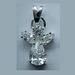 Sterling silver Angel pendant w. CZ
