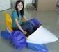 Power paddler boat, hand power boat, children boat, plastic boat, bouncer