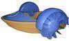 Power paddler boat, hand power boat, children boat, plastic boat, bouncer