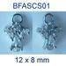 Sterling silver Angel stud earrings w. cubic zirconia