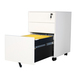 NON-K/D Three Drawer Siding Open Pedestal