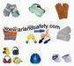 Leather work gloves, welding glove, earmuff, earplug, goggle, helmet