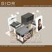 Cosmetics Kiosk, Display Showcase, Retail Counter, Skincare Station