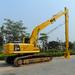 Excavator long reach boom/front
