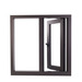 China factory aluminium alloy casement window with double glass