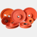 China custom cast iron pulley for ceramic glazing line