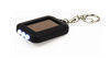 Solar powered flashlight keyring