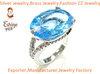 Brass jewelry ring
