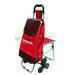 Folding shopping  trolley with seat