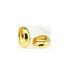 Brass earrings with cz