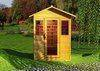 Corner infrared sauna room