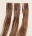 Keratin pre-bonded human hair extensions