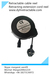 Spring loaded extension power cord reel retractable cable reel