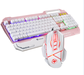 Factory price USB LED mental plate rainbow backlight Gaming Keyboard