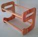 Wooden stainless steel dish rack