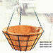 Supply Round hanging basket with coco liner