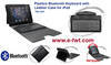 FEL-2924 Plastics BT Keyboard with Leather Case for iPad