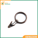 Decorative drapery rings curtain clip rings with strong clips 2' diame