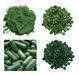 Softgel capsule and spirulina, Chlorella, Ginseng, Silica gel desiccant