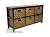 Water Hyacinth Drawer Cabinet, Wooden Frame