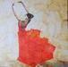 Leaf painting - Ballerina