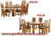 Dining room furniture wooden table solid oak wood