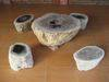 Petrified wood furniture