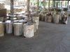 Petrified wood furniture