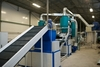 Tire recycling production line