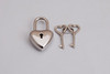 Stainless Steel Padlock With Heart Shape