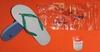 White dove slippers sandals 811 790 pvc pe plastic light