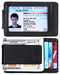 Real Genuine Leather Mens Womens Slim Minimalist RFID Blocking Wallets